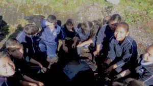 Bagging Seedlings for Nursery in Macheros School