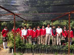 Students in front of their school nursery