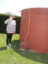 Drinking water from the cistern