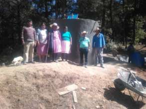 Family with their new cistern