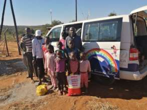 Today a family of 15 received 2 parcels. THANK YOU