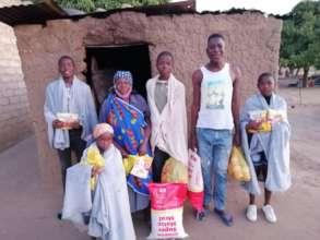 Mamma Sophia and 4 of her 8 orphaned grandchildren
