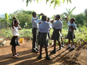 Shiluvana Scouts learning about Food Gardens