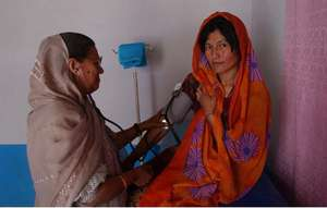Afghan Woman Receiving Care at MSIA Clinic