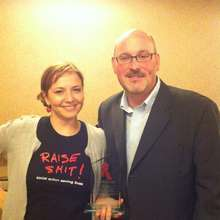 Receiving the award from Canadian Network and HRW