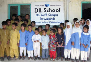Students at the DIL School in Dhoke Guff