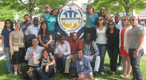 Fellows from around the world, at a Ford project