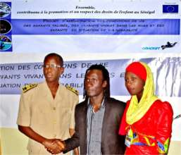 Deputy Governor Sahite Fall with Issa and Diodio