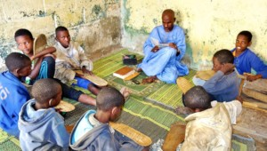 Marabout Sow teaching young talibes in his daara