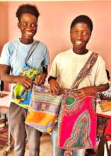 Elhage and Kalidou, proud of their work