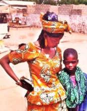 Samba with his mother Ndeye, happily reunited