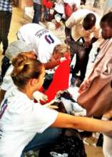 Clothing distribution to talibe children