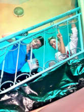 Robbie and Alicia renew the stairwells