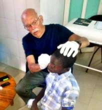 Treating a child in the infirmary