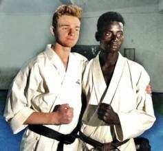Robbie & Buaro - best of friends & now black belts