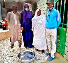MDG's Mamadou, Bouri and Ndaraw with Godmother