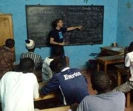 Steven teaching a senior talibe class