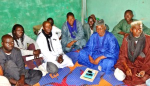 Cheikh, Issa meeting with village elders in 2018