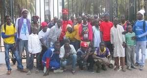 At the presidential palace, Dakar