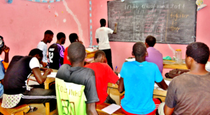Teaching an English class for other talibes