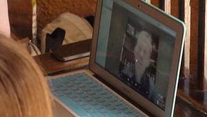 Chris Hadfield on Skype