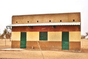 Permanent school building in Medina Alpha