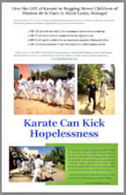 Fundraising flyer used at WKC World Championships