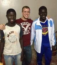 With Kalidou and Souleymane