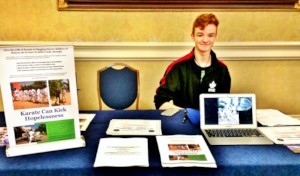Robbie fundraising at the Worlds in Florida