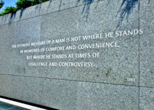 Martin Luther King's words touched Issa deeply