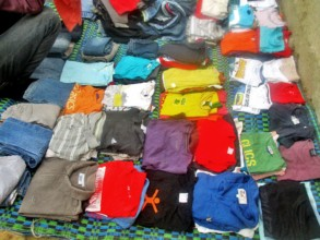 New clothes for the children on Laylatoul Xadr