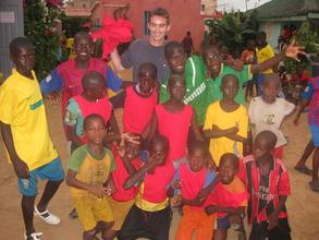 Jerome with a Maison de la Gare soccer team