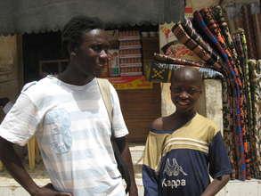 Kalidou with Issa Kouyate - July 2009
