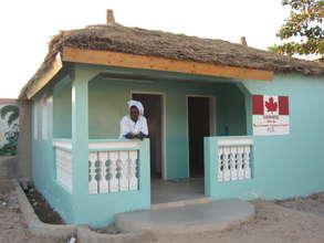 Nurse Anta Mbaye with new MDG infirmary