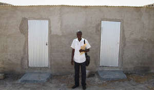 Dondo in front of the chaperone's rooms