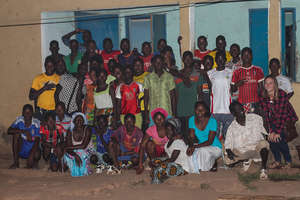 Me visiting the kids staying in Kedougou!
