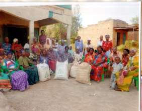 Bugiri Group with food supplies