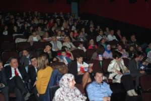Students at the movie theatre--free activity