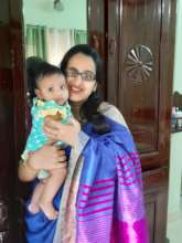 Chinnu and her baby girl
