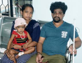 Birju family at Aravind Eye Hospital-Madurai