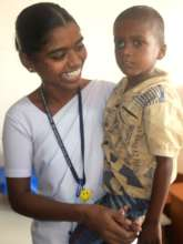 Ratheesh and his nurse at Aravind Eye Hospital