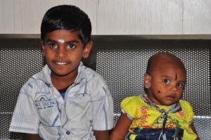 Brother and sister:  Diwakar and Sri Rithika
