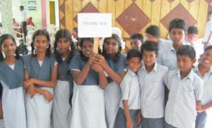Thank you from the children at Vallalar School.