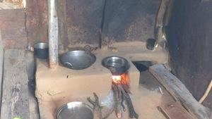 A smokeless chullah burning well