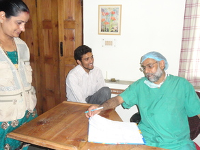 Dr Neeraj Dwivedi (Surgeon) outside the OT