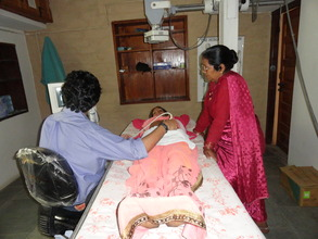 Dr Prashant Natu (Sonologist) at work