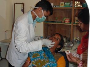 Dr Tanmay Singh (Dentist) at work