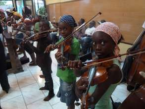 The violin class