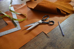 Tools and locally sourced leather