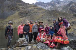 The most recent tour group to visit Huilloc Alto.